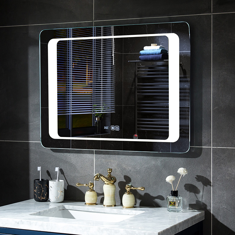 LED Bathroom Mirror with Touch Switch, Bluetooth & Clock