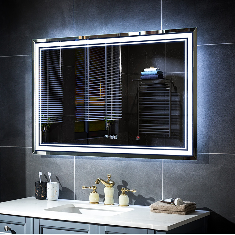 LED Illuminated Lighted Mirror With Touch Sensor